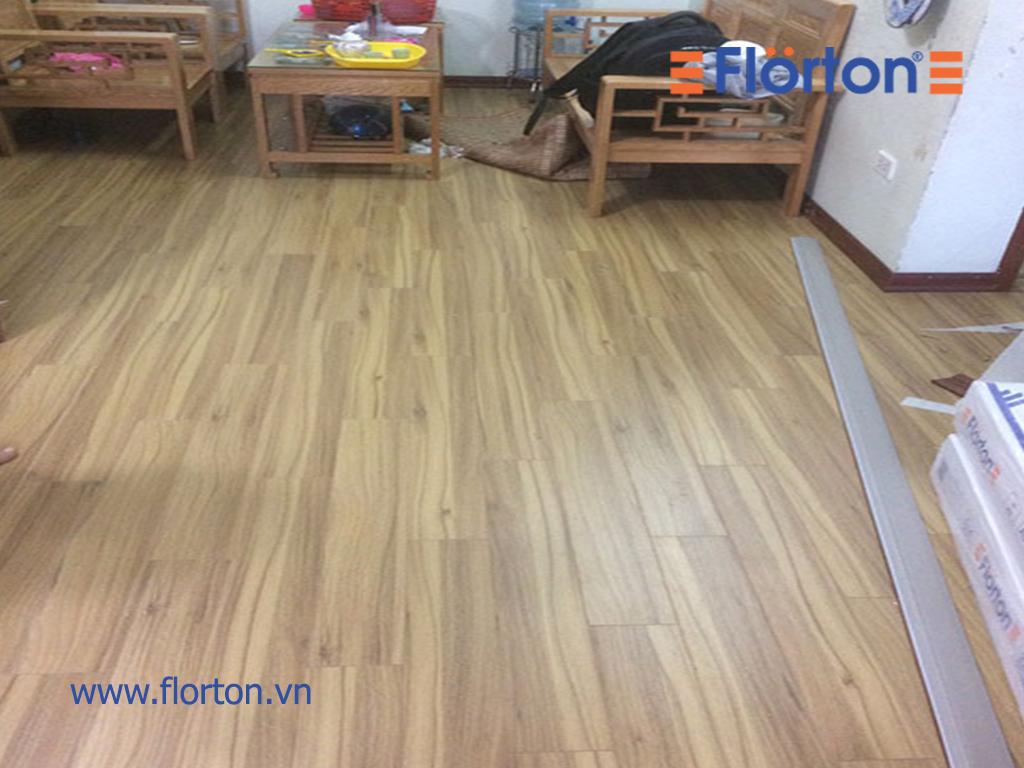 Thêm hình ảnh thi công sàn gỗ Florton FL662.