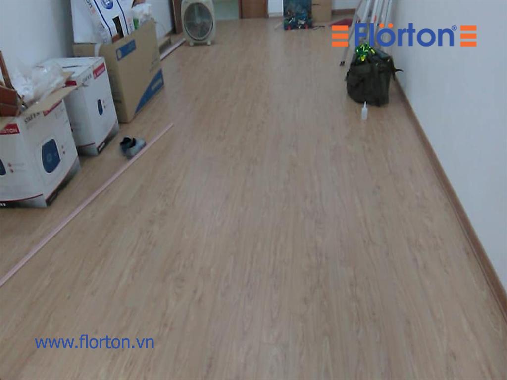 Hình ảnh hoàn thiện sàn gỗ công nghiệp Florton Việt Nam.