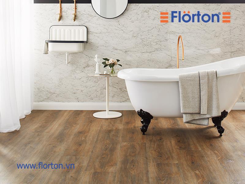 Sàn nhựa vân gỗ lát sàn phòng tắm đẹp hiện đại