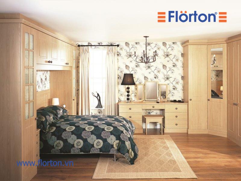 Sàn nhựa vân gỗ mang đến không gian ấm cúng cho phòng ngủ
