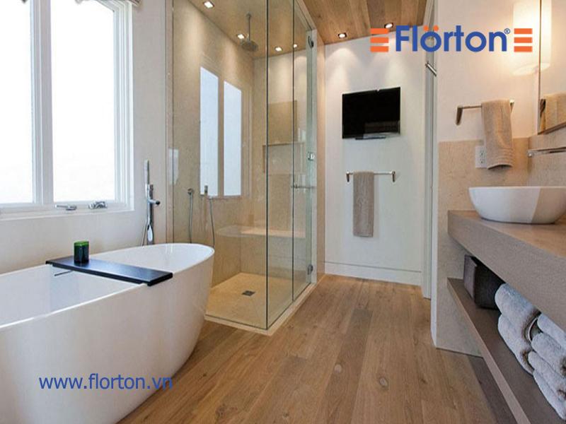 Lắp đặt sàn nhựa là giải pháp cho phòng tắm đẹp, sang trọng và an toàn