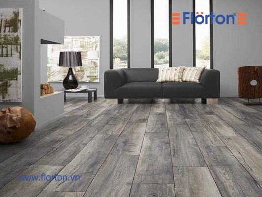Sàn nhựa vân gỗ lắp đặt phòng khách