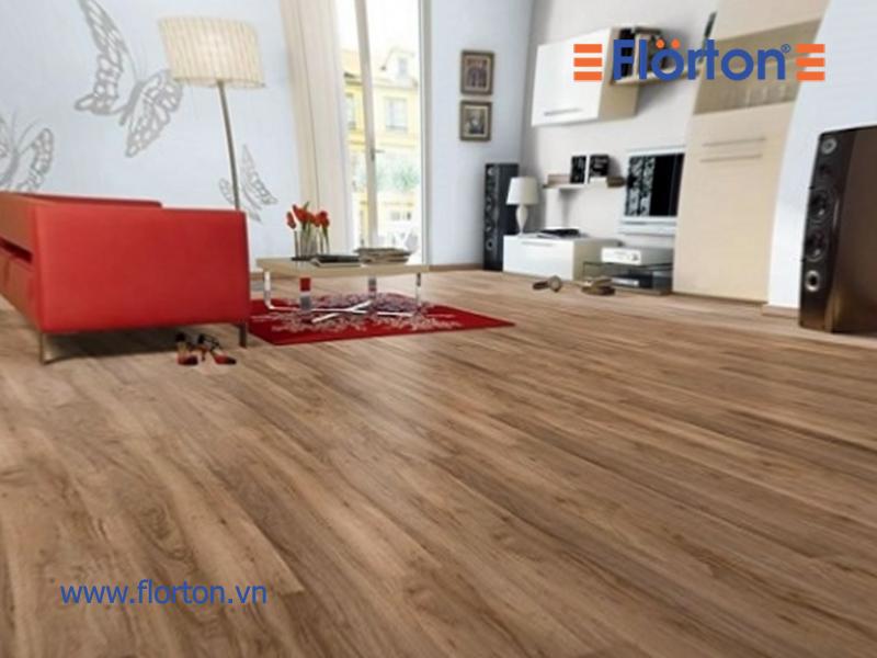 Hình ảnh sàn gỗ Florton lắp đặt phòng khách