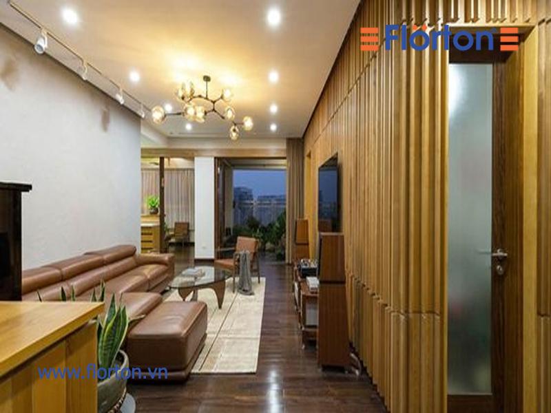 Thanh lam gỗ nhựa ốp tường trong nhà được nhiều khách hàng yêu thích lựa chọn