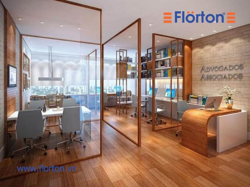 Văn phòng hiện đại với sàn gỗ công nghiệp Việt Nam