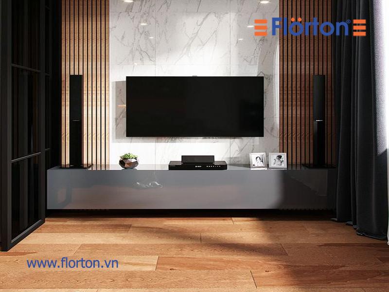 Sàn nhựa vân gỗ dán keo có hình thức giống sàn gỗ công nghiệp