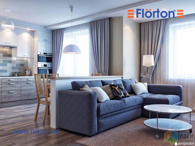 Sàn gỗ công nghiệp cao cấp Malaysia lắp đặt phòng khách đẹp sang trọng